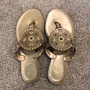 Gold Jack Roger Jelly Sandals